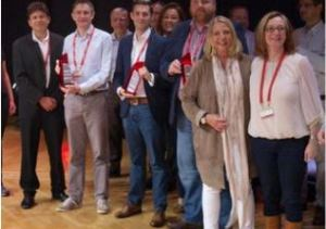 Tier 2 Consulting - Stronger Together Award presentation at Red Hat EMEA Partner Awards Frankfurt